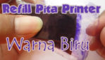 Refill Pita Printer Warna Biru ke Ungu an